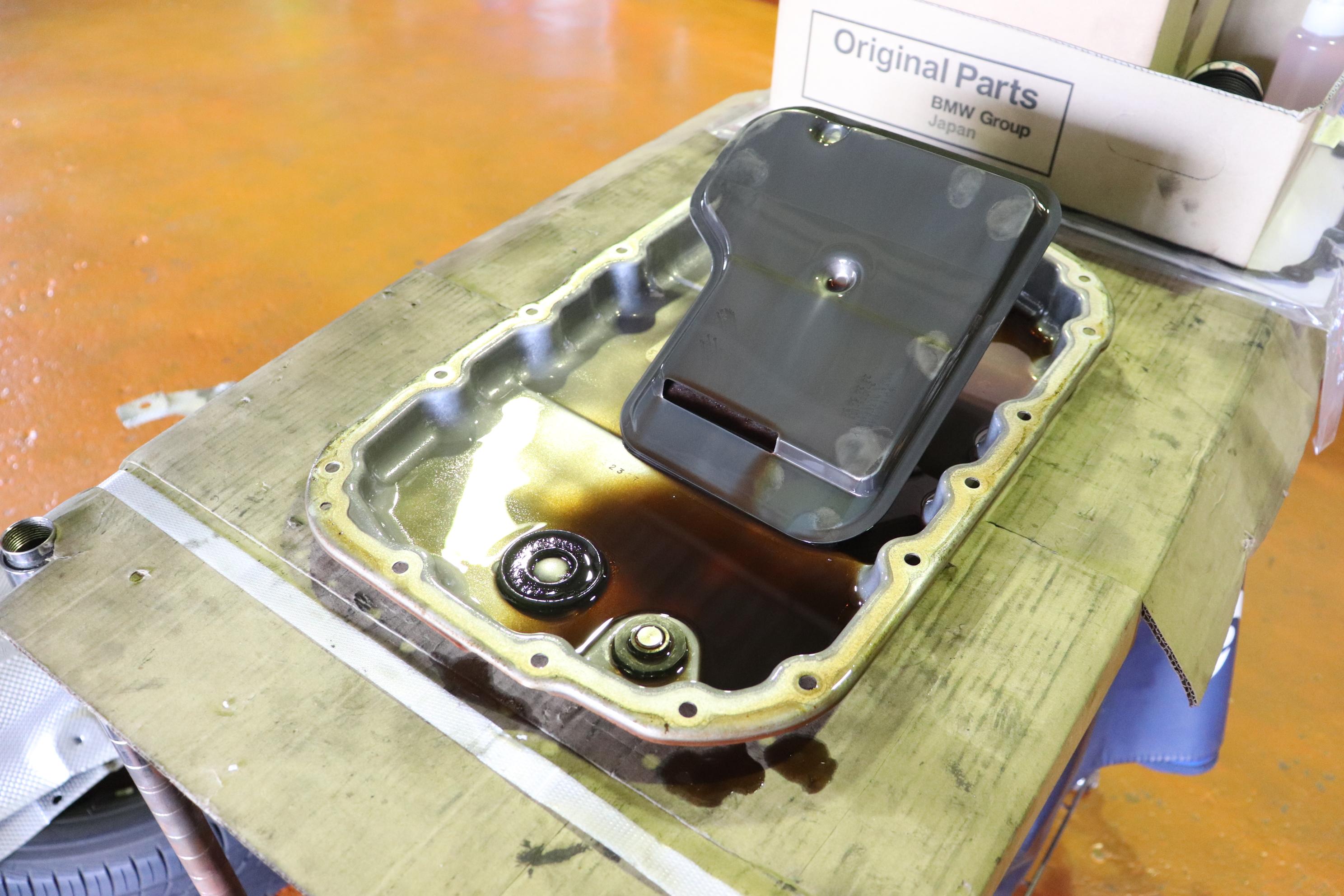 BMW E92 320 ATF全量交換&エンジンオイル交換