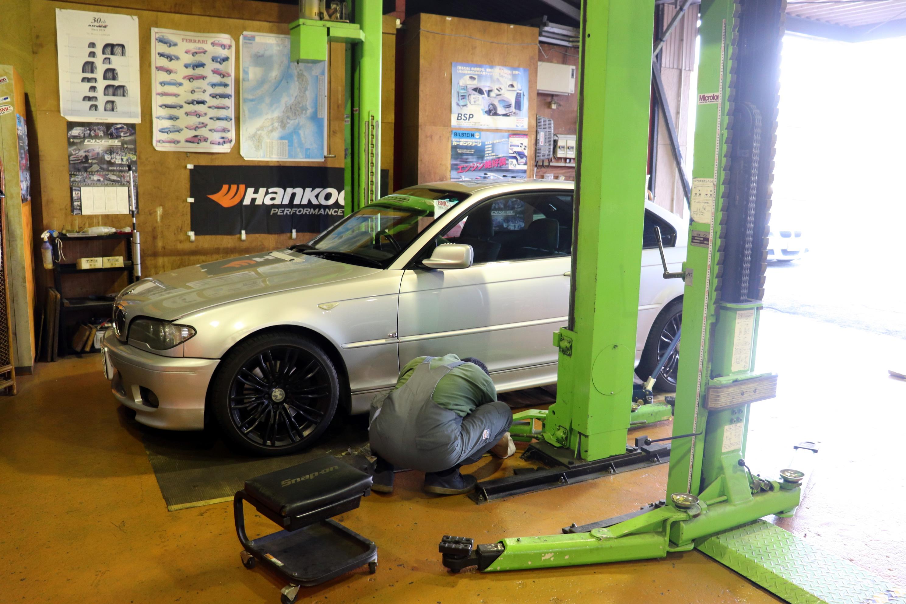 BMW E46 330 車検整備スタート